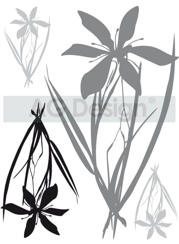 Samolepicí dekorace Flower F0443 (Dekorativní nálepka 65 x 85 cm)