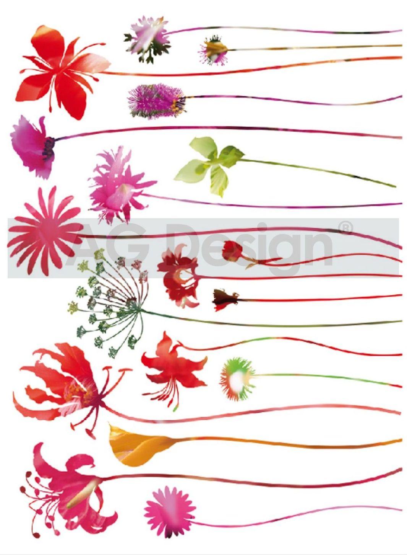 Samolepicí dekorace Happy Flower F0444 (Dekorativní nálepka 65 x 85 cm)