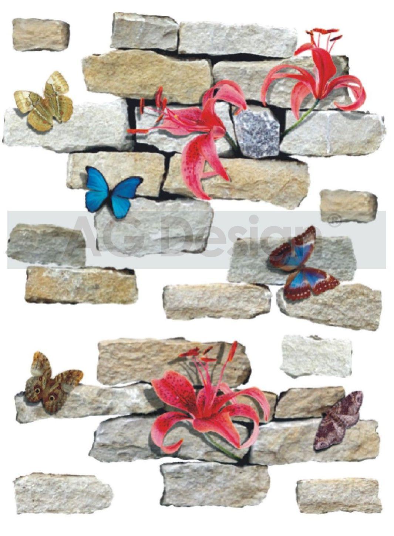 Samolepicí dekorace Butterfly Wall (Dekorativní nálepka 65 x 85 cm)