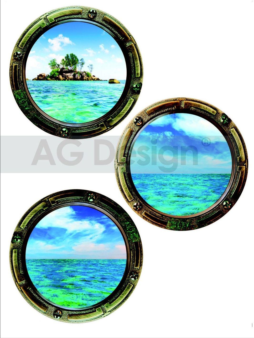 Samolepicí dekorace Island (Dekorativní nálepka 65 x 85 cm)