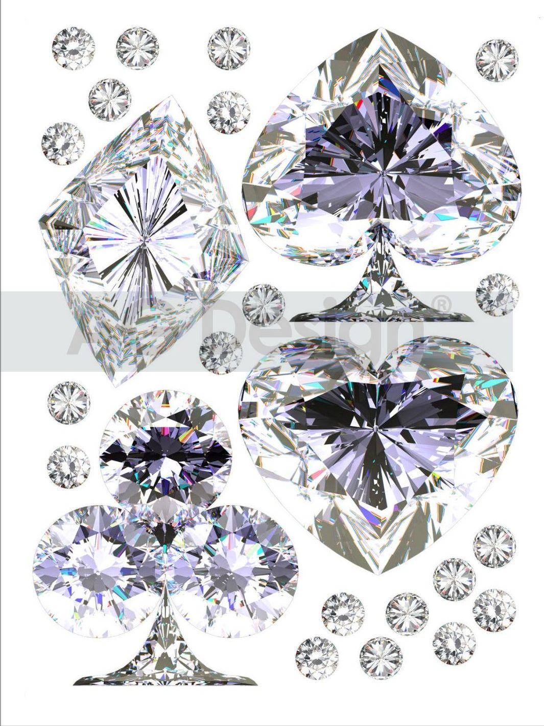 Samolepicí dekorace Diamanty (Dekorativní nálepka 65 x 85 cm)
