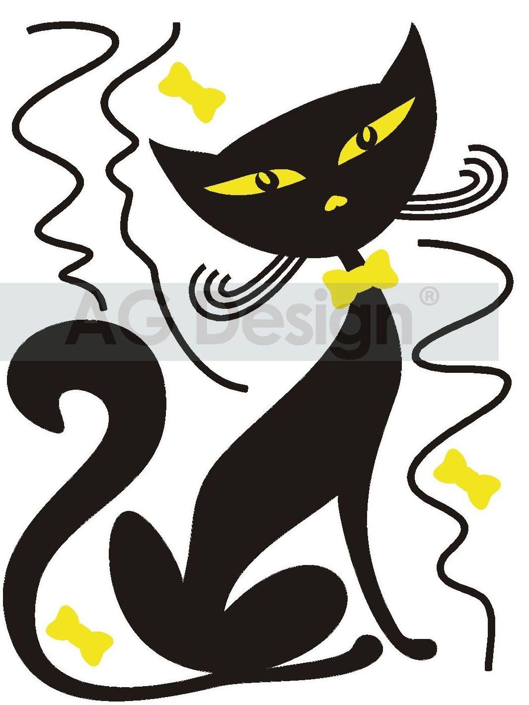 Samolepicí dekorace Kočička FL0415 (Dekorativní nálepka 65 x 85 cm)