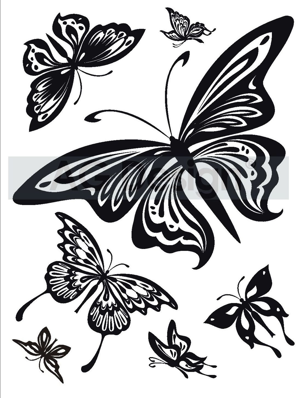 Samolepicí dekorace Motýlci (Dekorativní nálepka 65 x 85 cm)
