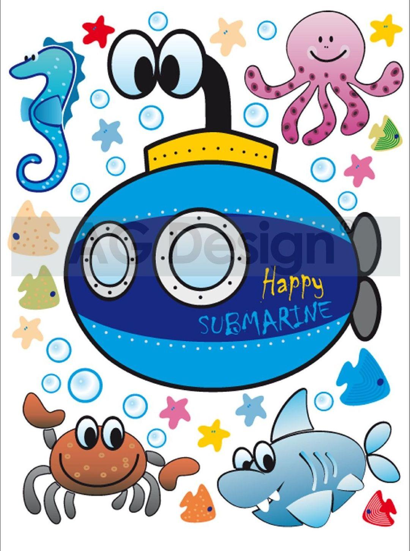 Samolepicí dekorace Ponorka Mini (Dekorativní nálepka 42 x 65 cm)