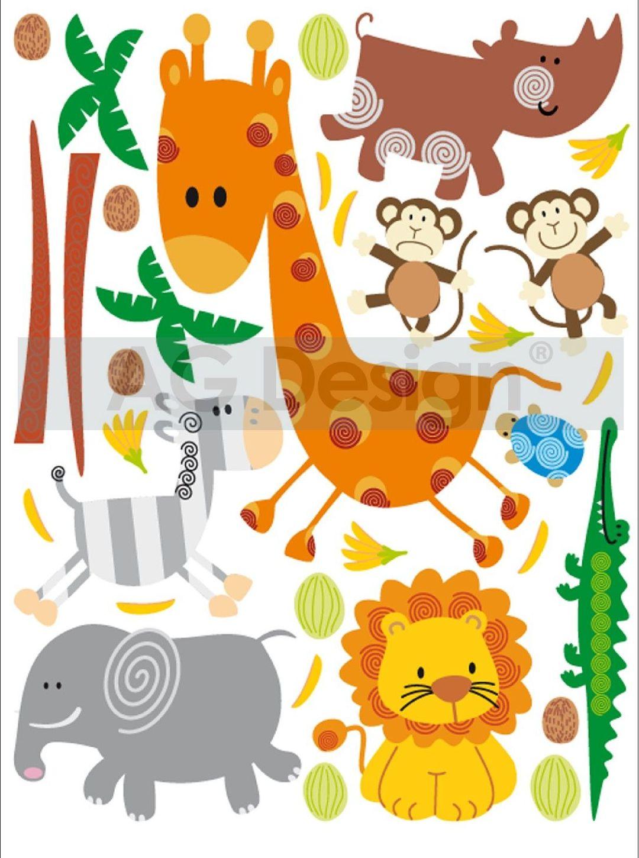 Samolepicí dekorace Žirafa Mini (Dekorativní nálepka 42 x 65 cm)