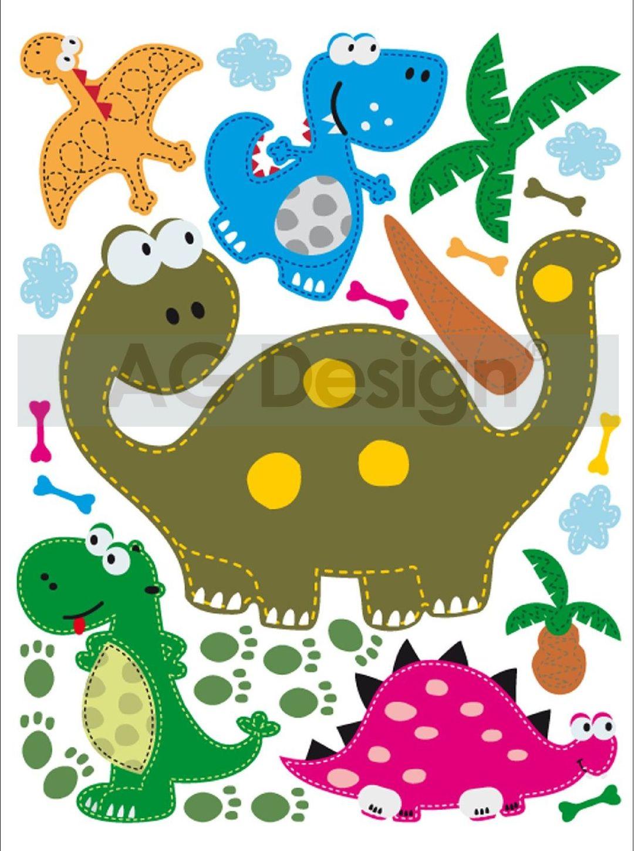 Samolepicí dekorace Dinosauru Mini (Dekorativní nálepka 42 x 65 cm)