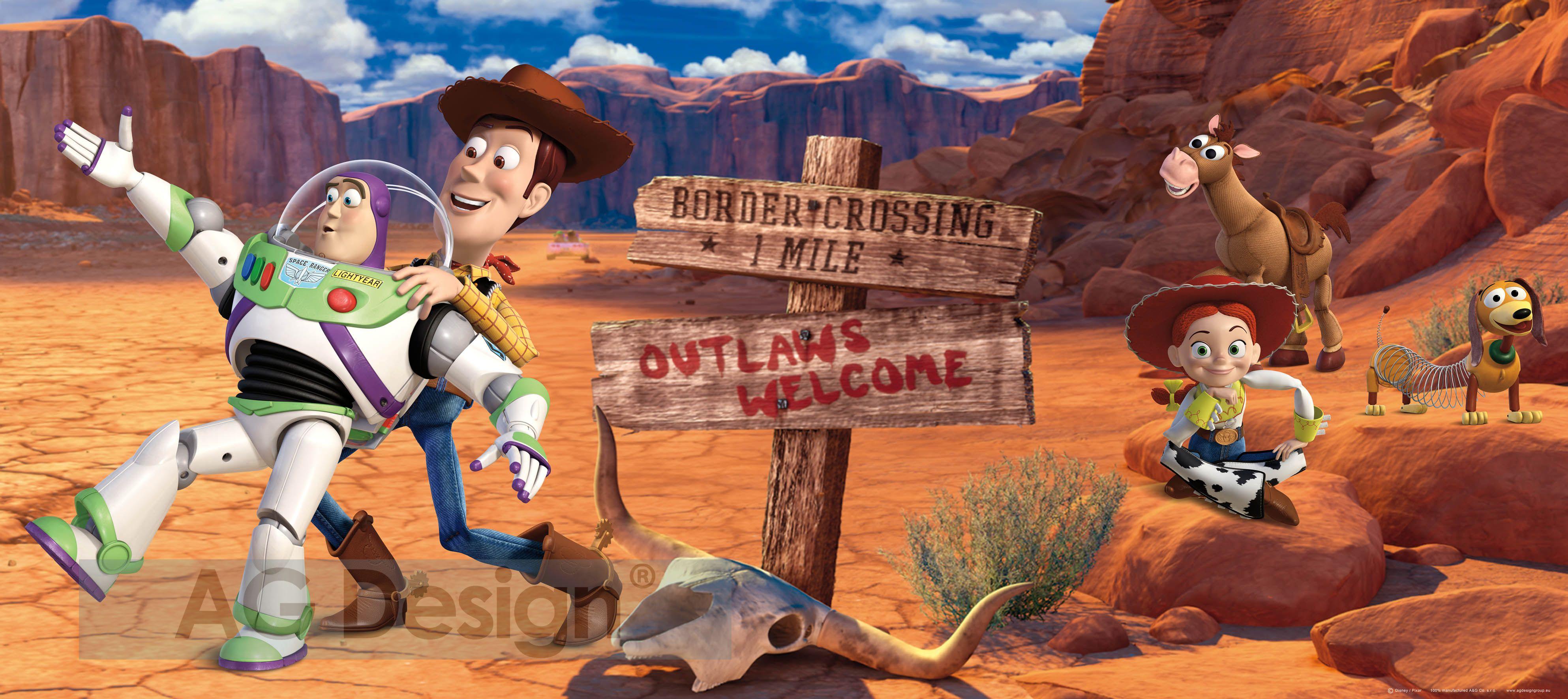 Dětská fototapeta Toy Story poušť FTDH0627 (1-dílná papírová tapeta)