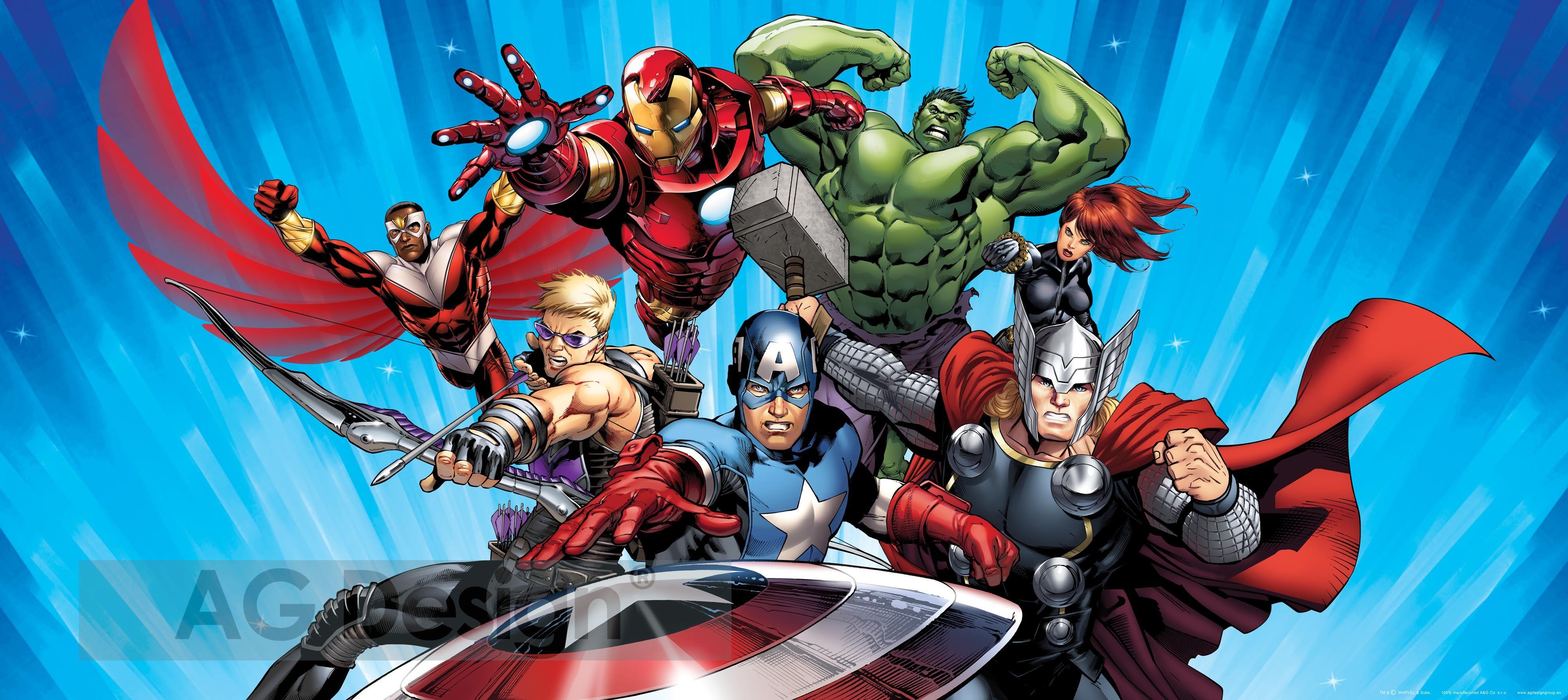 Dětská fototapeta Avengers 2 FTDH0630 (1-dílná papírová tapeta)