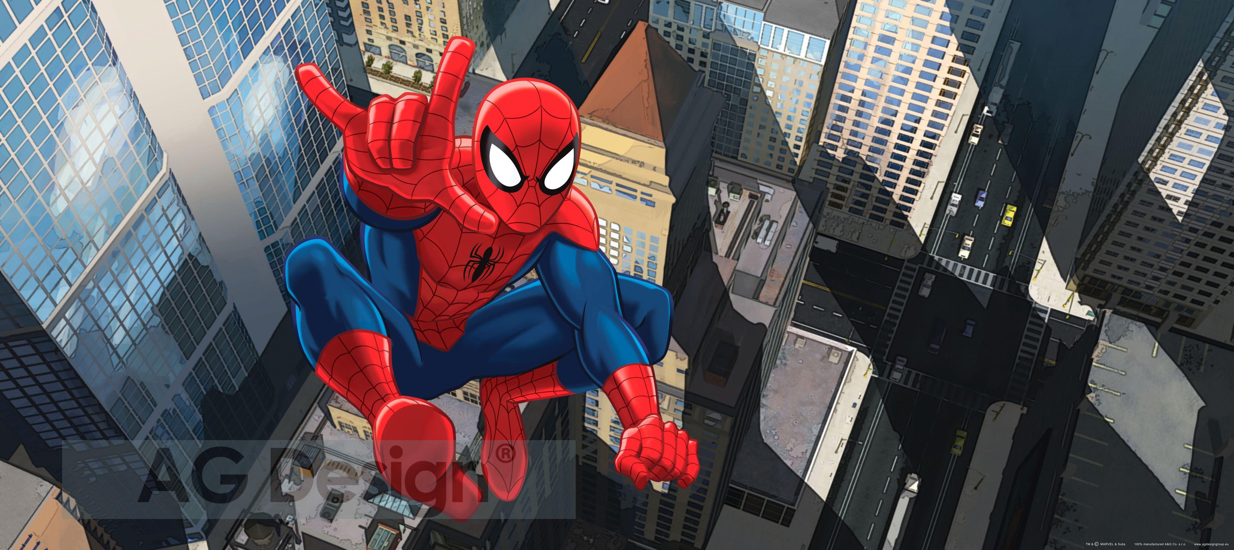Dětská fototapeta Spiderman in the Air FTDH0636