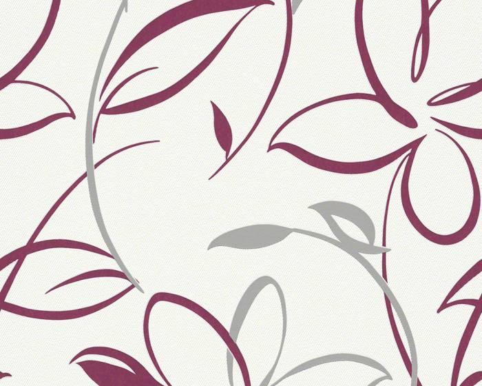 Tapety na zeď Avenzio 6 94084-3 (Bílá, lila)