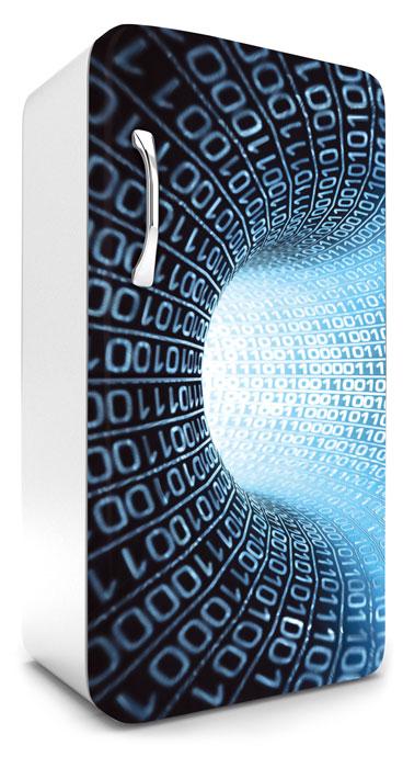 Fototapeta na lednici Binary Stream 65 x 120 cm FR120-036