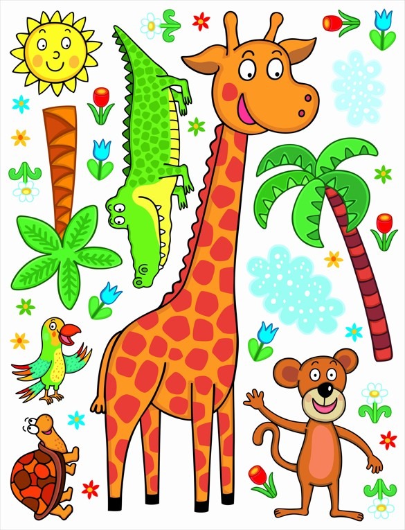 Samolepicí dekorace K1043 Žirafa 65 x 85 cm