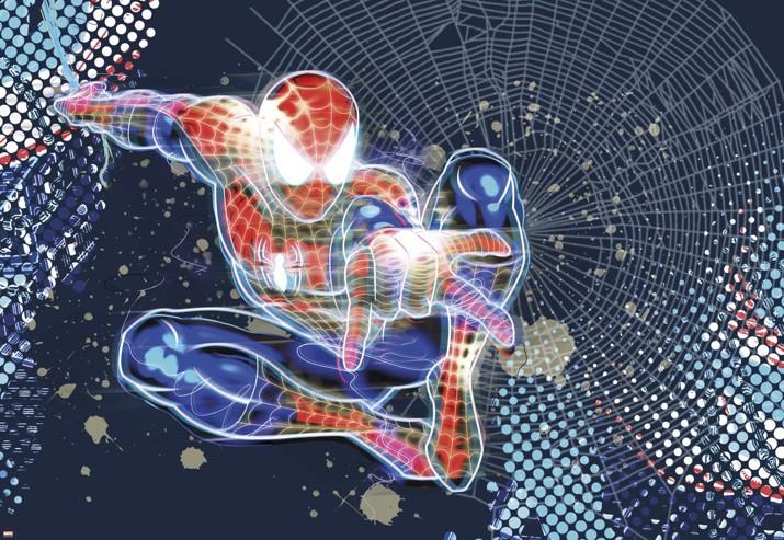 KOMAR* fototapeta 1-426 Spiderman Neon 184 x 127 cm