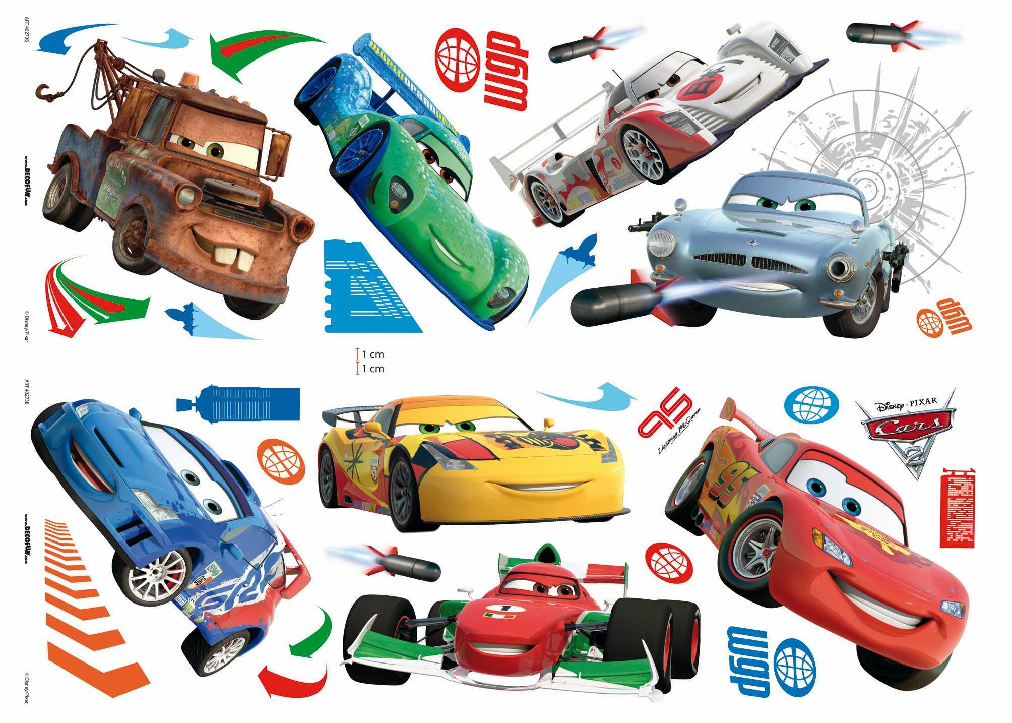 Samolepicí dekorace Cars D40273