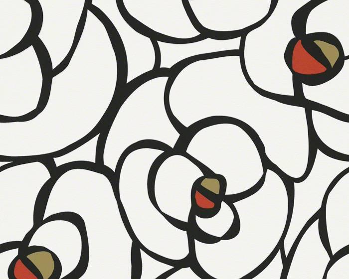 Tapeta na zeď Raffi 94027-3 (Černá, bílá, červená)