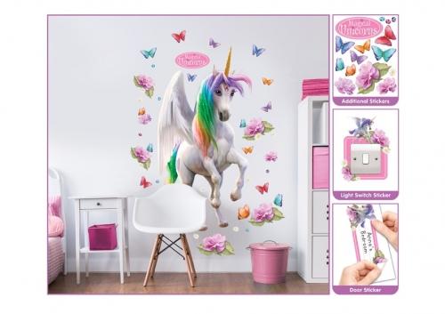 Samolepicí dekorace Walltastic Jednorožci 45996