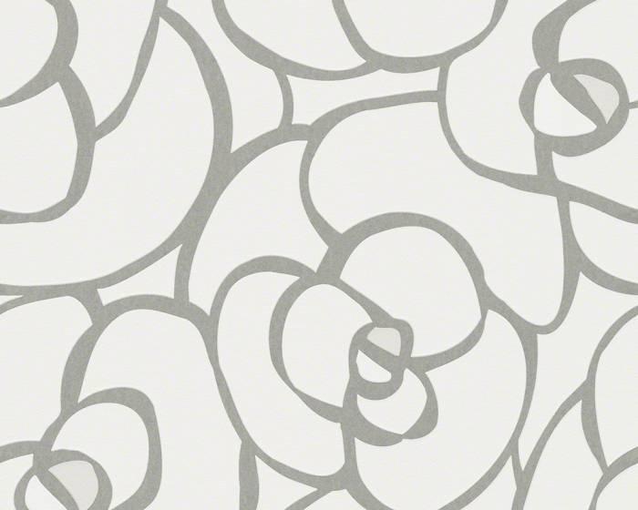 Tapeta na zeď Raffi 94027-7 (Bílá, stříbrná)