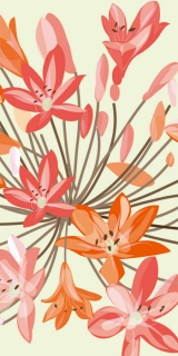 AKCE - Fototapeta Dimex Orange Flowers S-339 | 110x220 cm